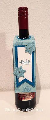 stampin up Flaschenanhänger Flockenzauber Allerbeste Wünsche Weihnachten Winter