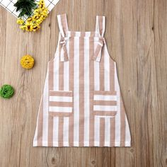 Pudcoco Summer Toddler Baby Girl Clothes Sleeveless Striped Strap Dress Casual P. - My Pins - Pudcoco Summer Toddler Baby Girl Clothes Sleeveless Striped Strap Dress Casual Pockets Summer Sundr - Baby Frocks Designs, Kids Frocks Design, Frocks For Girls, Little Girl Dresses, Dress Girl, Girls Summer Dresses, Cute Baby Dresses, Baby Girl Frocks, Baby Girl Fashion