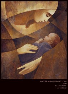 """Mother and Child"" J. Kirk Richards, I just discovered this artist and LOVE his work"
