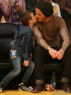 David Beckham and his son.....