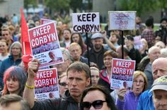 Hundreds turn out to back Jeremy Corbyn in Piccadilly Gardens rally - Manchester Evening News
