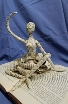 Dancer Book Sculpture by Jodi Harvey-Brown @ WetCanvasArt via Etsy