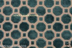 P3 Contemporary Modern Rich Turquoise Geometric Cut Velvet Upholstery Fabric BTY | eBay