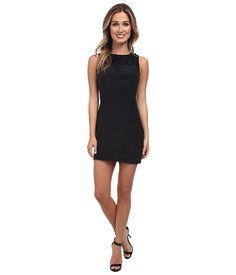 KAS New York Lucina Shift Dress Black - 6pm.com