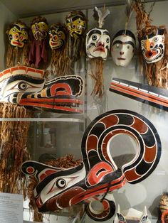 ceremonial masks Museum Of Anthropology Vancouver BC