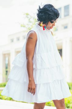 Sweenee Style, White oversized Shirt, Indiana Style Blog, Indianapolis, White shirt dress