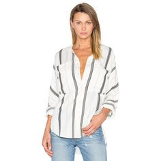 Tibi Dolman Military Blouse ($120) ❤ liked on Polyvore featuring tops, blouses, button ups, white rayon blouse, button down top, white dolman top, white button up blouse and rayon tops