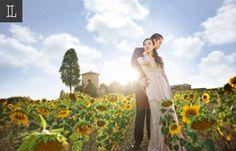 Shine in my heart #prewedding at #europe #sunflowers