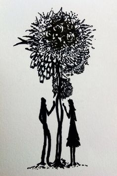 Between (2012) Drawing by WhiteYak