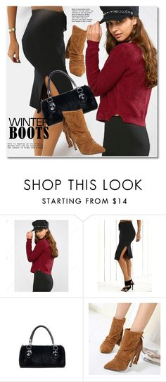 """""""Winter Boots"""" by svijetlana ❤ liked on Polyvore featuring polyvoreeditorial, winterboots and twinkledeals"""