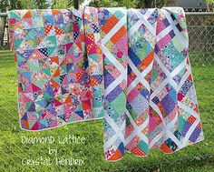 Diamond Lattice and MORE! ~ These are *GORGEOUS* quilts by Moda! :D <3 <3 <3