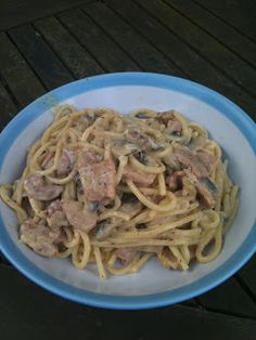 Bacon and mushroom creamy pasta - Slimming World friendly