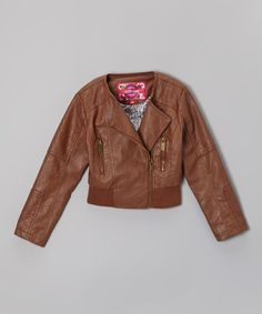 Another great find on #zulily! Toffee Asymmetrical Zip-Up Jacket - Infant, Toddler & Girls #zulilyfinds