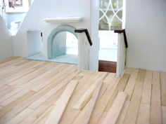 Something to keep in mind for the girls- tiny handmade: Popsicle stick floors