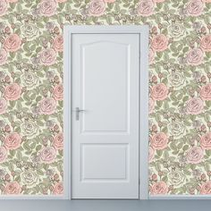 Removable Wallpaper  A Rose is a Rose in Green  by WallpaperDolls, $90.00