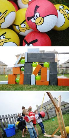 Do it yourself outdoor party games the best backyard entertainment angry bird game party for little mr c solutioingenieria Gallery