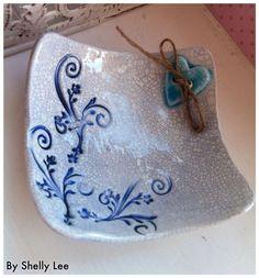 Square trinket dishes, Ceramic, Decoration £6.50