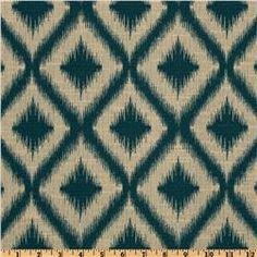 Robert Allen Woven Jacquard Ikat Fret Tourmaline - love, love, love for pillows in the living room!