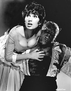 Promotional still for Curse of the Werewolf (1961) with Yvonne Romain and Oliver Reed