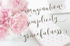 Storybook Calligraphy Script by Emily Spadoni on @creativemarket