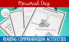 This blog post has LOTS of no-prep Memorial Day Reading Comprehension Activities for upper elementary. #vestals21stcenturyclassroom #memorialday #memorialdayreading #memorialdayreadingactivities #memorialdaypassage #memorialdayactivities