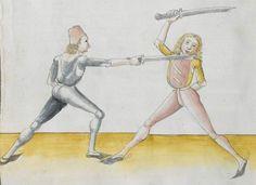 Lecküchner, Hans: Kunst des Messerfechtens Nordbayern, 1482 Cgm 582 Folio 86