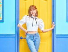an yujin pics ( Skinny Asian, Yu Jin, Japanese Girl Group, First Photo, Kpop Girls, Asian Girl, Honda, Fandom, Ruffle Blouse