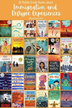 30 Middle Grade Books about Immigration and Refugee Experiences Red Words, Grade Books, Chapter Books, Children's Literature, Book Themes, Read Aloud, Fun To Be One, Book Publishing, Book Recommendations