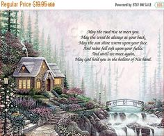 25% Sale Cottage Irish Blessing ART ID_COTTAGE_01