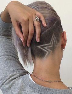 Undercut Frisur Ideen mit Formen für Frauen Haar in