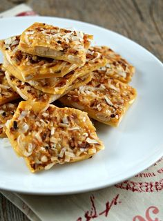 Coconut and Marcona Almond Brittle | Yummy Desserts!