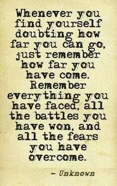 Keep going strong!