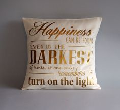Harry Potter pillow - Gold throw pillow cover - 16x16 18x18 20x20 24x24 - Dumbledore quote pillow - Harry potter cushion -