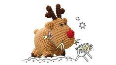 Kleine, süße Häkeltiere sind im Moment der absolute Renner! Passend zur Weihnachtszeit zeigt uns Tanja Steinbach ein kleines Rentier, das schnell und einfach nachgehäkelt werden kann.