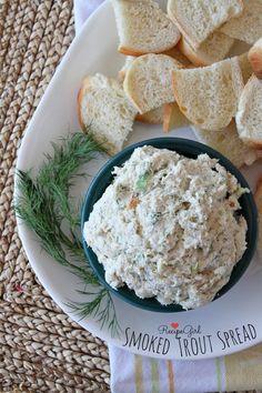 Smoked Trout Spread #appetizer #recipe - RecipeGirl.com
