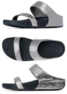 FitFlop Lulu Lustra Slide Sandals in Pewter - Free Shipping on Purchase of  95