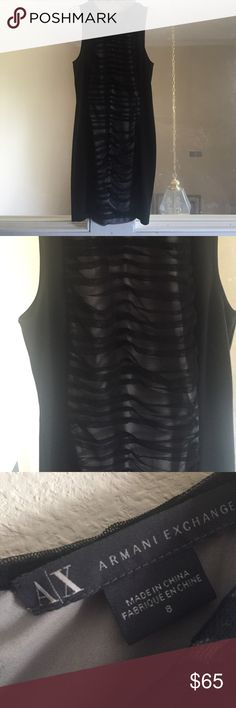 Armani Exchange black dress Worn only once for my graduation. Retails for $100. Perfect condition. Zipper down the back. A/X Armani Exchange Dresses Midi