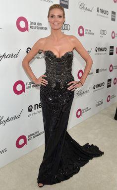 Heidi Klum at Elton John's Oscars viewing party. #redcarpet