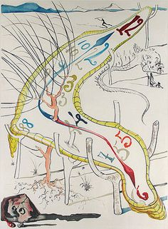"""Salvador Dali """"Conquest of Cosmos Frozen Watches of Space Time """" 1974"""