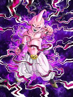 [Uncontrollable Instinct] Kid Buu/Dragon Ball Z: Dokkan Battle Dragon Ball Z, Dragon Ball Image, Dbz, Akira, Majin Boo, Goku Pics, Z Tattoo, Goku Super, Side Tattoos