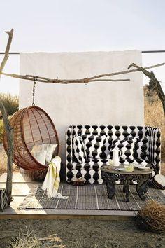 ☆ HKliving Rattan Hanging Chair via - anthropologie.com