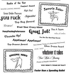 Informal awards -Sample Employee Recognition Award Certificate ...