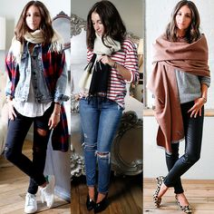 """3 Fresh Ways to Tie a Scarf - Donni Charm featured on Harpers Bazaar - use coupon code """"ngalanti"""" for 30% ALL merchandise at www.donnicharm.com #happyshopping"""