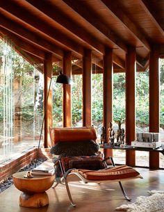 The Schaffer House, designed by John Lautner c. 1949, interior by Commune, Los Angeles, California, 2014