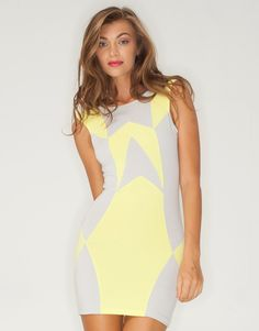 """Lovely in lemon! Love this dress    Visit motelrocks.com and use the code """"laucampbell"""" at checkout to get 20% off"""