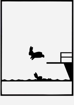 Diving Rabbit print from www.bodieandfou.com