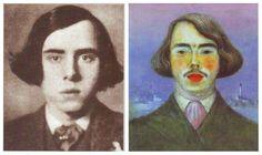 Podobizna a autoportrét Jana Zrzavého, 1909 Painters, Selfies, Portraits, Illustration, Face, Artist, Fictional Characters, Head Shots, Artists