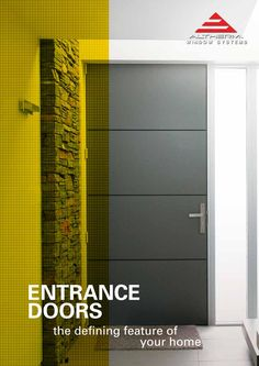 Altherm has a large range of stunning entrance doors grouped into several design series. They are generally made in aluminium to optimise security and low maintenance, but a glass-clad door (on an aluminium framing system) is also available. One of the benefits of aluminium construction is the range of colours available.
