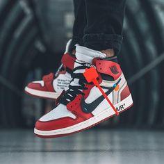 """What did you wear today? : Off-White x Nike Air Jordan 1 """"The : Sh. Air Jordan Sneakers, Casual Sneakers, Sneakers Fashion, Casual Shoes, Fashion Shoes, Shoes Sneakers, Jordan Fashions, Jordan Outfits, Sneaker Store"""