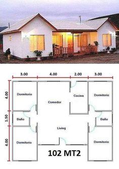 Creemos que estos Pines pueden gustarte My House Plans, House Layout Plans, Small House Plans, House Layouts, House Floor Plans, Small House Design, Dream Home Design, Home Design Plans, Bungalow Haus Design